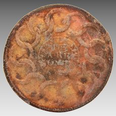 1787 Fugio or Franklin Cent, Becker Reproduction Coin, Peter Rosa Replica