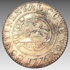 1776 Continental Dollar Coin, Becker Reproduction, Peter Rosa Replica
