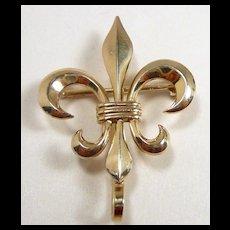 Fab Fleur de Lis Watch Pin Newark c. 1900