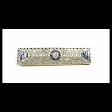 Exciting Edwardian Diamond and Sapphire Brooch c. 1910
