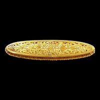 Delightful Handmade Austro-Hungarian Pierced Work Brooch c. 1880