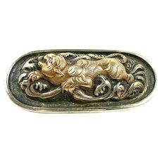 Artisan Hand Crafted Antique Menuki Brooch