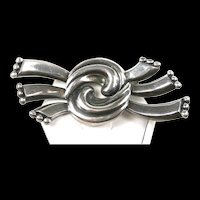 Sophisticated Margot de Taxco Brooch #5645 c. 1955