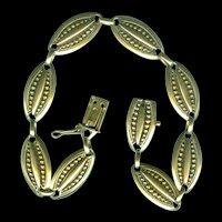 Fabulous French Art Nouveau 18kt. Gold Link Bracelet c. 1890