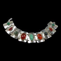 Jugendstil Bauhaus Arts and Craft Hand wrought Mauer Bracelet c. 1920