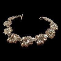 Chic N. E. From Mid Century Silver Bracelet Denmark c.1950