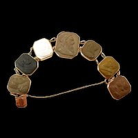 Adventurous Grand Tour Lava Cameo Bracelet c. 1860