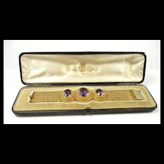 Exciting Etruscan Revival Bracelet by Charles Packer c. 1860