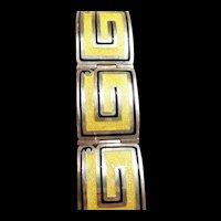 Special Margot de Taxco Enamel Bracelet #5376 c. 1955