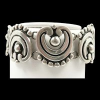 Lovely Los Castillo Scroll and Ball Sterling Bracelet #325 c. 1955