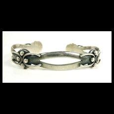Skillful Maricela Single Oval Cuff Bracelet c. 1960