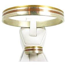Simplistic Metales Casado Bracelet Ring Set c. 1950