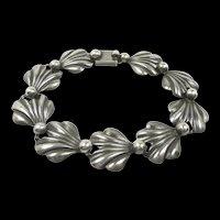 Fanciful N. E. From Denmark Shell Bracelet c. 1955