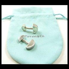 Retired Tiffany & Co. Coin Edge Cufflinks c. 2003