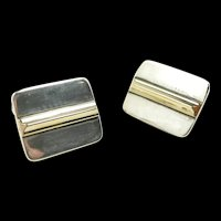Classic Retired James Avery Sterling/Gold Cufflinks c. 1975