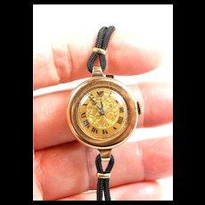 Lovely Ladies Gruen Gold Watch c. 1937