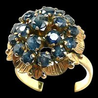 Chandelier Dome Spinel Ladies Fashion Ring c. 1960