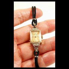 Genteel Girard Perregaux Diamond Ladies Watch c. 1940