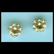 Celebration Champagne Diamond Stud Earrings c. 1990