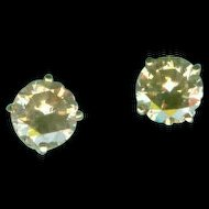 Celebration Champagne Diamond Stud Earrings c. 1990