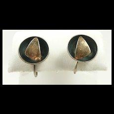 Engaging Ed Levin Studio Vintage Earrings c. 1955