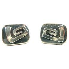 Slick Enrique Ledesma Spiral Earrings c. 1960
