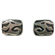 Neat Ledesma Pre-Columbian Style Earrings c. 1955