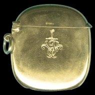 Charming Gold Vesta or Lucifer Case Hallmarked 1904