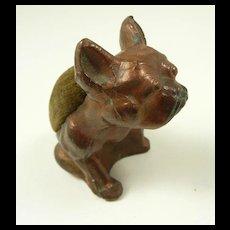 Vienna Bronze French Bulldog Style Stickpin Holder c. 1890