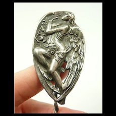 Angelic Art Nouveau Sterling Hat Pin c. 1890