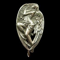 Angelic Art Nouveau Sterling Hat Pin c. 1890