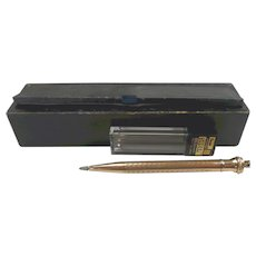 Edwardian Rolled Gold Eversharp Pencil with Box c. 1910