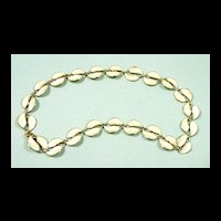 Dandy David Andersen Double Leaf Guilloche Enamel Necklace c. 1955