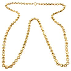 Enthralling French Victorian Gold Double Textured Chain 18kt. Gold c. 1860