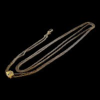 Interesting Victorian Long Chain Slide Mixed Gold c. 1870