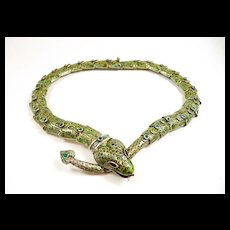 Margot de Taxco Snake Necklace Mid Century c. 1955