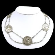 Historic Artisan Roman Coin Handmade Festoon Necklace AD 81-249