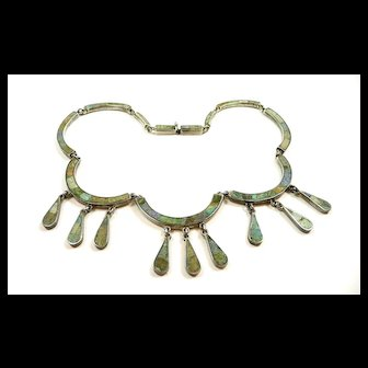Majestic Mosaico Azteca Los Castillo Festoon Necklace c. 1950-65