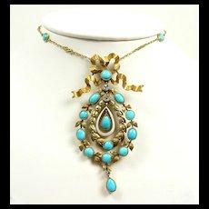 Divine Belle Epoque French Pendant Necklace c. 1880