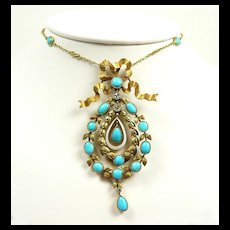 Divine Belle Epoque French Pendant Necklace c. 1880