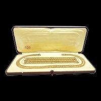 Fashionable French Gold Demi Parure c. 1950