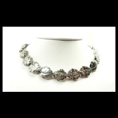 Fashionable N. E. From Denmark Falling Leaves Necklace c. 1955