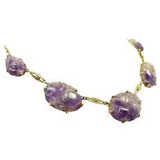 Amusing Lavender Jadeite Necklace c. 1910-20