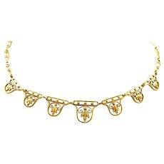 Fabulous Filigree Art Nouveau Necklace c. 1900