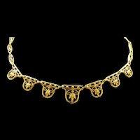 Fabulous French Filigree Art Nouveau Necklace c. 1900