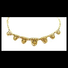 Fabulous French Filigree Belle Epoque Necklace c. 1900