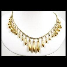 Floaty Fringe Victorian Gold Necklace c. 1880