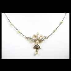 Delightful Diamond Edwardian Wedding Necklace c. 1900