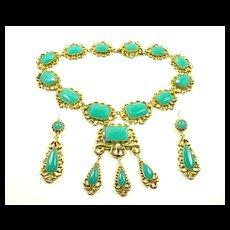 Devastating Georgian Necklace Earring Demi-Parure c. 1820