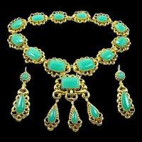 Devastating Georgian Necklace/ Earring Demi-Parure c. 1820